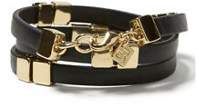 Banana republic Faux-Leather Wrap Bracelet in Black NWOT $79.99