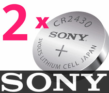 2 PCs SONY 3V Button Cell CR2430 Lithium Battery Scales Calculator Remote Watch