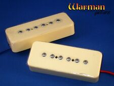 Pair of cream Warman Soapy Joe's P90 soapbar pickups