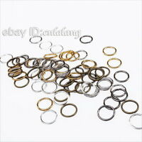 300pcs New Mixed Colors Open Jump Rings Jewellery Making Findings 8mm 161085