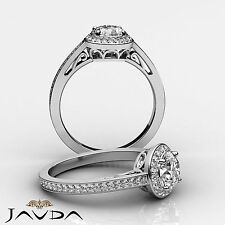 Round Diamond Engagement Beautiful Filigree Ring EGL E VS1 14k White Gold 1.5 ct