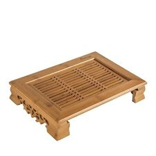 Bamboo Gongfu Tea Table Serving Tray Build-in Removeable Water Basin