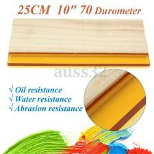 "10"" Silk Screen Printing Press Squeegee Single 70 Durometer Ink Scraper Tool"