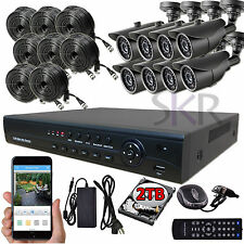 Sikker 8 CH CHANNEL AHD 720P DVR Video Security System Outdoor Camera HDMI 2TB