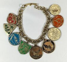 APOLLO Missions Medallions Charm Bracelet Space NASA Missions 7-15