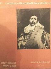 1976 Catalogue de Vente DROUOT RIVE-GAUCHE ART DECO 1900 LAURIN GUILLOUX...