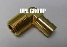 1/2 HOSE BARB ELBOW X 3/8 MALE NPT Brass Pipe Fitting Thread Gas Fuel Water Air