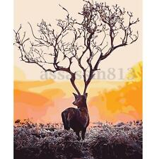 DIY Paint By Number Kit Acrylic Oil Painting On Canvas Alone Deer Home Decor