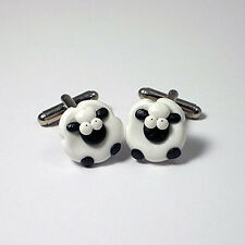 sheep cufflinks farmers ball , weddings , fathersday xmas gift