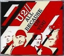 U2 All Because of you w/ LIVE & ACOUSTIC UK CD Single