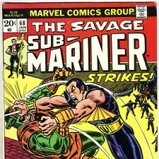 The SAVAGE SUB-MARINER #68 vs. the Man FORCE from Jan. 1974 in Fine- condition