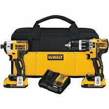 Dewalt DCK287D2 20V MAX Brushless Compact Hammer Drill &Impact Driver Combo Kit