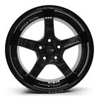 ADVAN GT Racing Alloy Wheels Rim Sports Mags 17X7.5 Stud 5x114.3 Sets of 4 BLACK