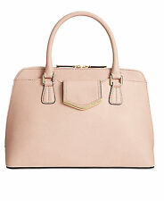 New CALVIN KLEIN On My Corner Saffiano Leather Sugarplum Satchel Handbag $228