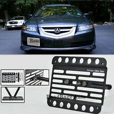 For 04-08 Acura TL Front Bumper License Plate Mount Holder Tow Hook Bracket