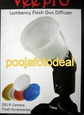 Flash bounce diffuser reflector,Lambency diffuser white orange blue yellow cap