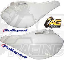 Polisport White Plastic Left & Right Hand Side Panels For Kawasaki KX 250 99-02