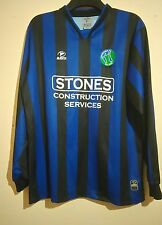WIRRAL PENINSULA FOOTBALL CLUB MATCH WORN L/S SHIRT MASITA STONES 2001 # 9 VGC