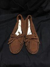 MINNETONKA Womens 102 Brown Kilty Softsole Moccasins Size 7