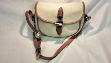 Dooney & Bourke AWL Bone & British Tan Shoulder Purse & Brass Toggle & Braid