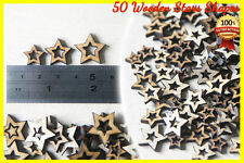 50 Stars Wooden shapes Craft Scrapbooking MDF Wood Gift Wedding Hole Star Cut