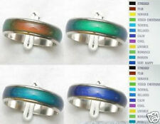 6mm Mood Ring Lots Wholesale 50pcs Color Changable size 6-9 Stainless Steel  #ke