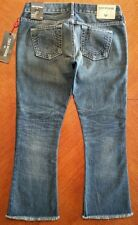 NWT $219.00 True Religion Womens Blue Karlie Bell Bottom Crop Jeans Size 25 USA
