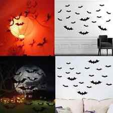Halloween Black Bat Wall Stickers Decal PVC Removable Sticker for Home Decor C0H