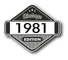 Vintage Edition 1981 Classic Retro Cafe Racer Style Vinyl Motorcycle car sticker