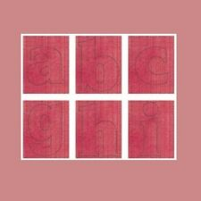 CLOUD 9 Chipboard Monograms 1 1/2 inch Alphabet Downtown Collection BERRY ABC