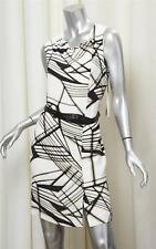 3.1 PHILLIP LIM TARGET Womens White Print Sleeveless Belt Above Knee Dress 8 NEW