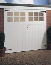 "CHEAP JELDWEN GLAZED TIMBER GARAGE DOORS & FRAME 2134MM X 1981MM (7'x6'6"")"