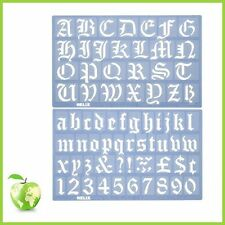 Alphabet stencil set helix old english alphabet stencil set - 30mm