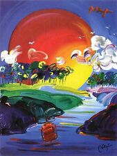PETER MAX POSTER -A BETTER DAY COOL AND COLORFUL-FACSIMILE SIGNED #82