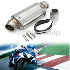 38-51mm Motorcycle Exhaust Muffler Pipe W/ Silencer Stainless Steel Street Bike