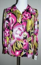 JL1 Missoni for Target Womens Top L NWT raspberry floral rose print blouse