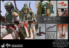 "HOT TOYS Star Wars VI Return of the Jedi BOBA FETT Deluxe 12"" 1/6 Scale Figure"