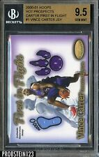 2000-01 Hoops H Prospects Vince Carter First In Flight Jersey #27/250  BGS 9.5