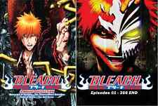 DVD BLEACH COMPLETE SERIES EPI 1 - 366 END + 4 MOVIES ENGLISH VERSION & SUBTITLE