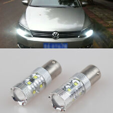 2x 50W White LED  Bulb daytime Light 1156 Cree Projector For vw jetta mk6 10-14