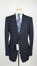 NWT TOM FORD Classic Navy Blue Peak Lapels Wool 2 Button Suit 58/48 R Base A