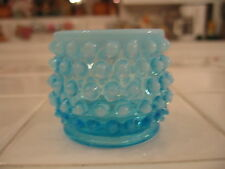 Beautiful Vintage Fenton Light Blue Opalescent Hobnail Small Dish Or Glass Cup