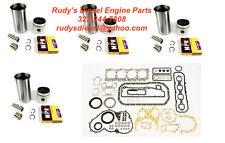 Liner Kit + Gasket Set Bundle for 92-98 Isuzu NPR 3.9L 4BD2 Turbo diesel engine