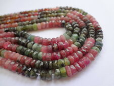 "5.5.5mm Tiny Faceted Tourmaline Rondelle Colorful Gemstone Beads - 13.5"" Strand"