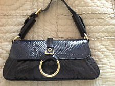 DOLCE&GABBANA Black Python Shoulder Handbag