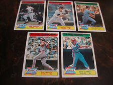1985 Topps Baseball---Drake's Big Hitters---Lot Of 5---No Dupes