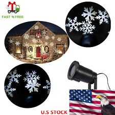 Outdoor Snowflake Projector Light Garden House Waterproof Moving LED Laser Lamp