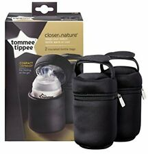 TOMMEE TIPPEE CLOSER TO NATURE INSULATED BOTTLE CARRIERS - 2 PACK FREE P&P