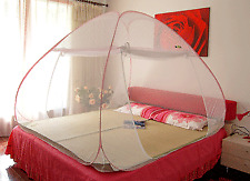 Flower Printed Branded Portable & Foldable Double Bed Sized Folding Mosquito Net