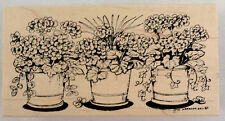 Northwoods Geranium Pot Garden 2011 Botanical Wooden Rubber Stamp